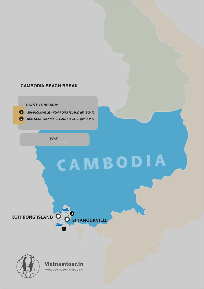 Cambodia Beach Holiday Package from India in 4 DAYS